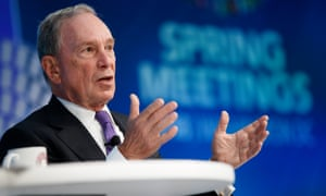 The former New York City mayor Michael Bloomberg.