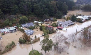 Flooded communities in the Otago region of the South Island