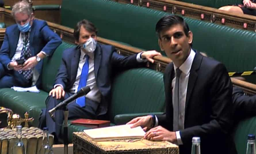 A video grab showing Rishi Sunak speaking in the Commons