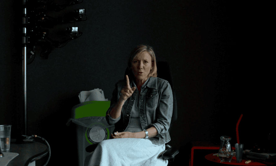 Still of Sarah Montague from the video portrait by Nigel Shafran.