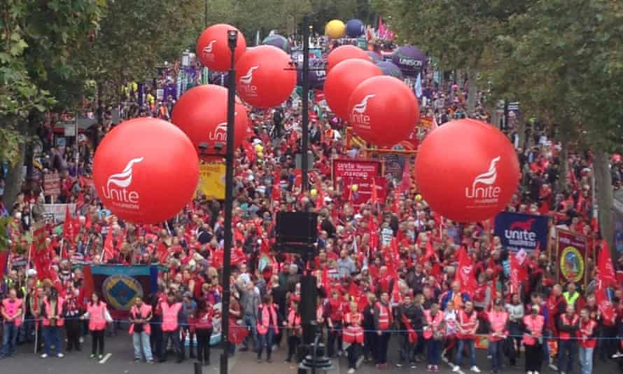 Trade unionists march against austerity