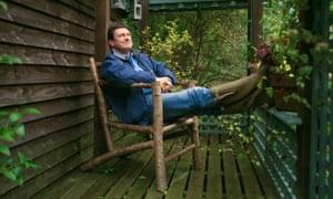 Alan Titchmarsh enjoying the decking in his own garden.
