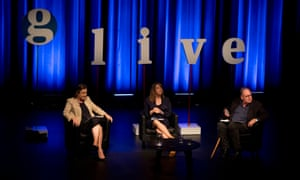 Guardian Live event, Does the Truth matter? Held at The Seymour Centre in Sydney on Wednesday 22nd February 2017 with the Guardian's global editor-in-chief, Katharine Viner and Guardian Australia editor, Lenore Taylor in conversation with Mark Colvin from the ABC. Photograph by Mike Bowers.