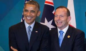 Barack Obama and Tony Abbott at the G20 summit in Brisbane in 2014