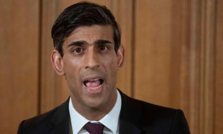 Chancellor of the Exchequer Rishi Sunak on 20 March 2020