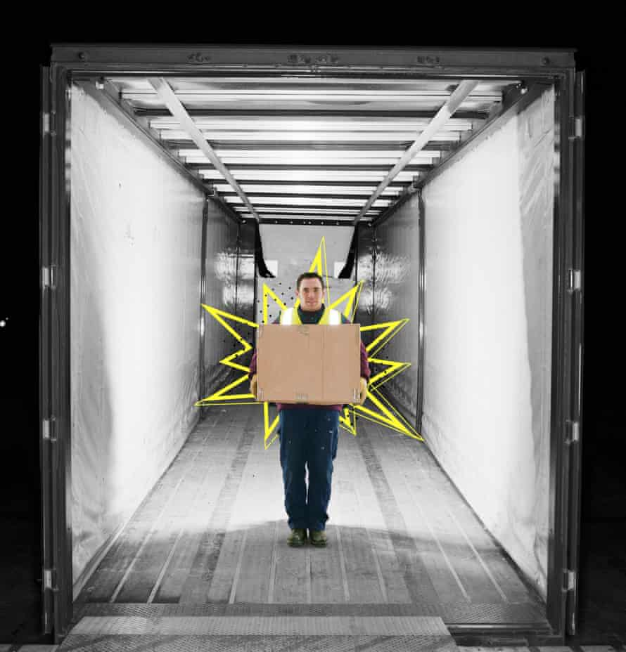 Many delivery workers are worried about what will happen if they themselves become unwell.