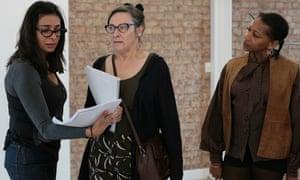 Shobna Gulati, Pauline McLynn and Clare Perkins in rehearsals.