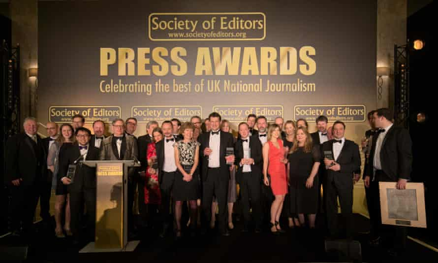 Winners at the Press Awards for 2015.
