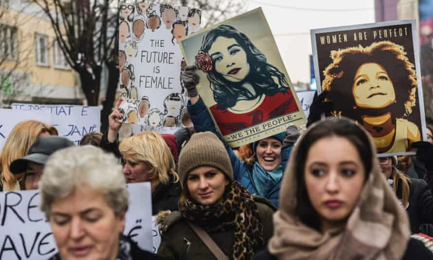 Hundreds of thousands of protesters spearheaded by women's rights groups converged on Washington, and took part in protests around the world, to protest Donald Trump's presidency.