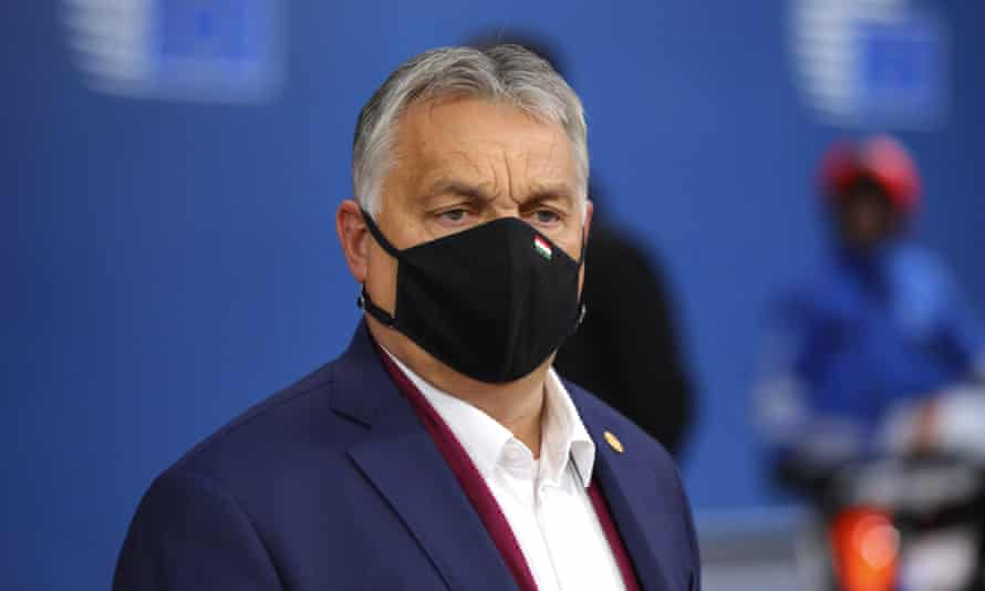 Hungary's prime minister Viktor Orbán at an EU summit in Brussels last week.