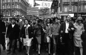 Marc, Bolan, Joan Baez, Donovan and Vanessa Redgrave at a march.