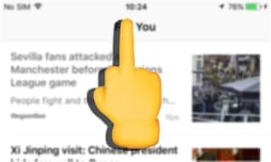 The middle finger emoji