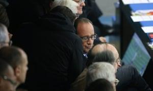 François Hollande hears news of an explosion while at Stade de France.