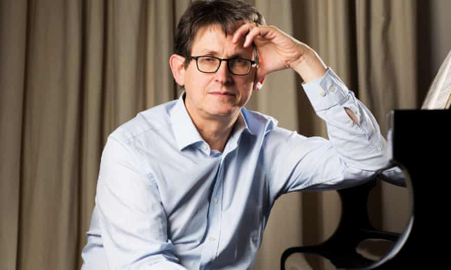Alan Rusbridger … Preparing to lay down some piano overdubs for the Woog Riots album. Possibly.