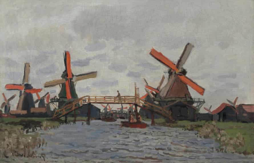 Windmills near Zaandam, 1871.