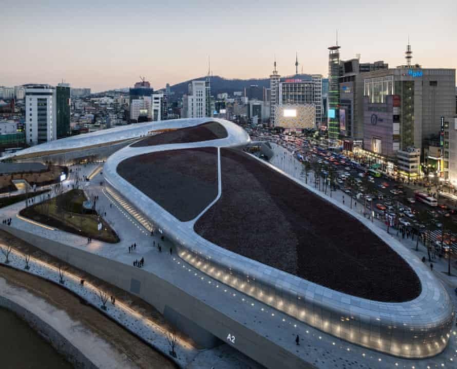 Zaha Hadid's Dongdaemun Design Plaza, which replaced the market.