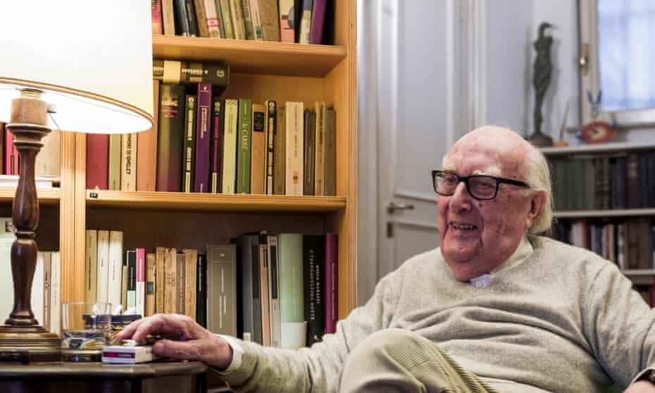 Italian writer Andrea Camilleri in his house in Rome, October 2017.