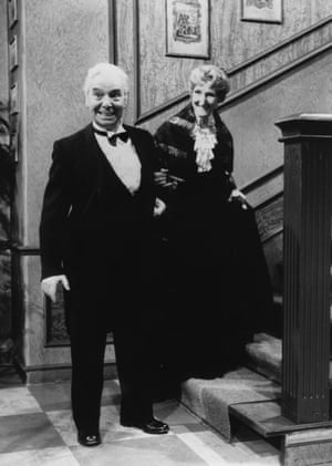 Freddie Frinton and May Warden in the Dinner for One sketch.