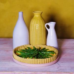 Asparagus and egg tart.