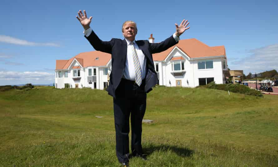 Donald Trump at Turnberry in June last year.