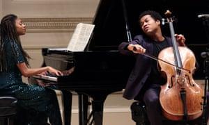 Sheku Kanneh-Mason and Isata Kanneh-Mason at the Carnegie Hall, New York.