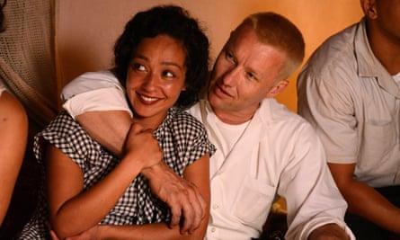 Ruth Negga and Joel Edgerton as Mildred and Richard Loving.