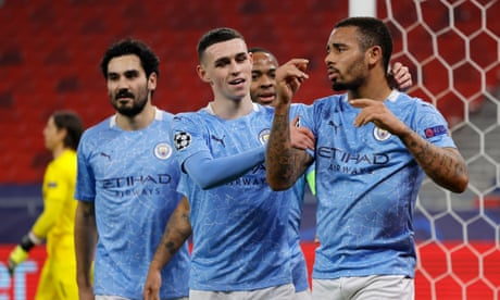 Gladbach 0-2 Manchester City: Champions League last 16 – as it happened
