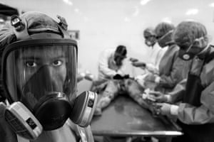 """Luis Henry Agudelo Cano: from the series 'Young People Who Beautify Death', 2nd place - Current Affairs & News category """"These boys are studying thanatopraxy - preparing the deceased for burials. They acquire a knowledge so professional that they are capable of erasing the marks of death and healing wounds, in such a way that the image that the deceased transmit to their families and friends is of peace, regardless of the circumstances of their death."""""""