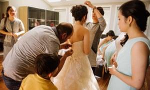 Jo Du before her wedding.