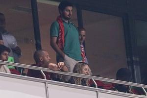 Madonna watches in Lisbon.