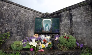 A shrine in Tuam erected in memory of the up to 800 children allegedly buried at the site of the former home.