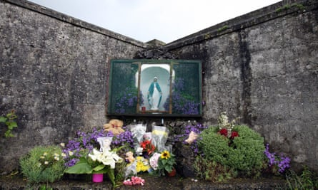 'There is nothing for some victims – no possibility of apology, financial settlement, memorial, medical history or opportunity for healing.' A shrine in Tuam, County Galway.