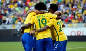 Brazil celebrate.