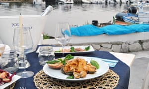 Seafood pasta at Almyra, in Ognina
