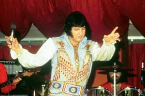 Presley live on stage