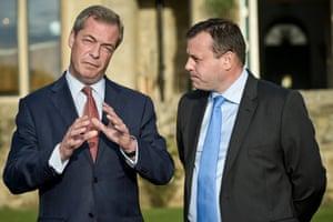 Nigel Farage (left) with Arron Banks, millionaire backer of Ukip
