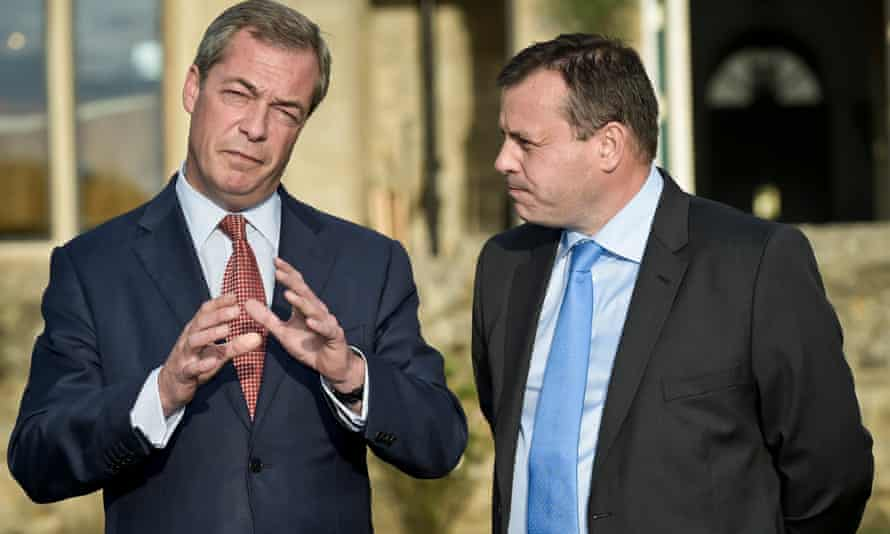 Nigel Farage (left) with Arron Banks, two of the 'Bad Boys of Brexit'.