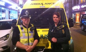 Emergency services in Leicester city centre