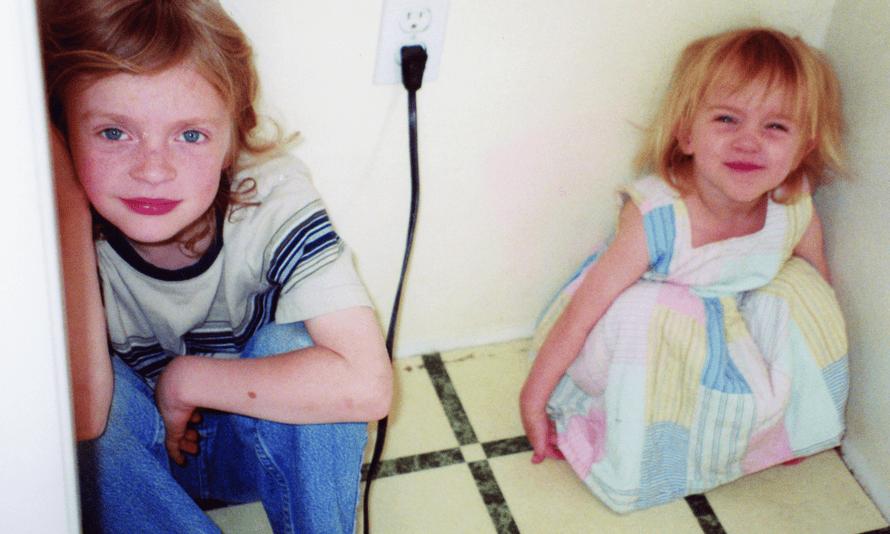 Finneas and Billie as children