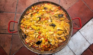 A dish of paella