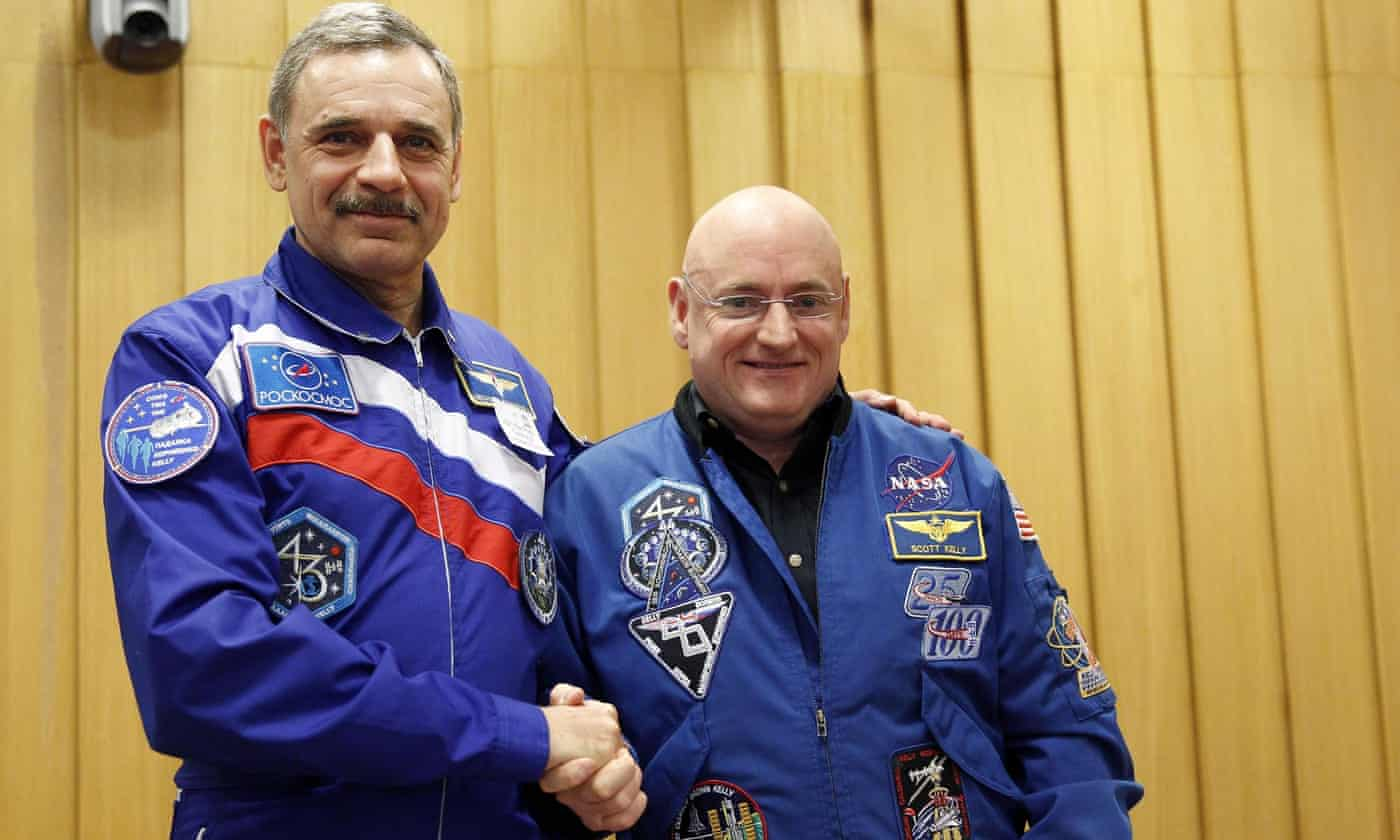 US, Russian space travellers: 'There is no borders in space between us'