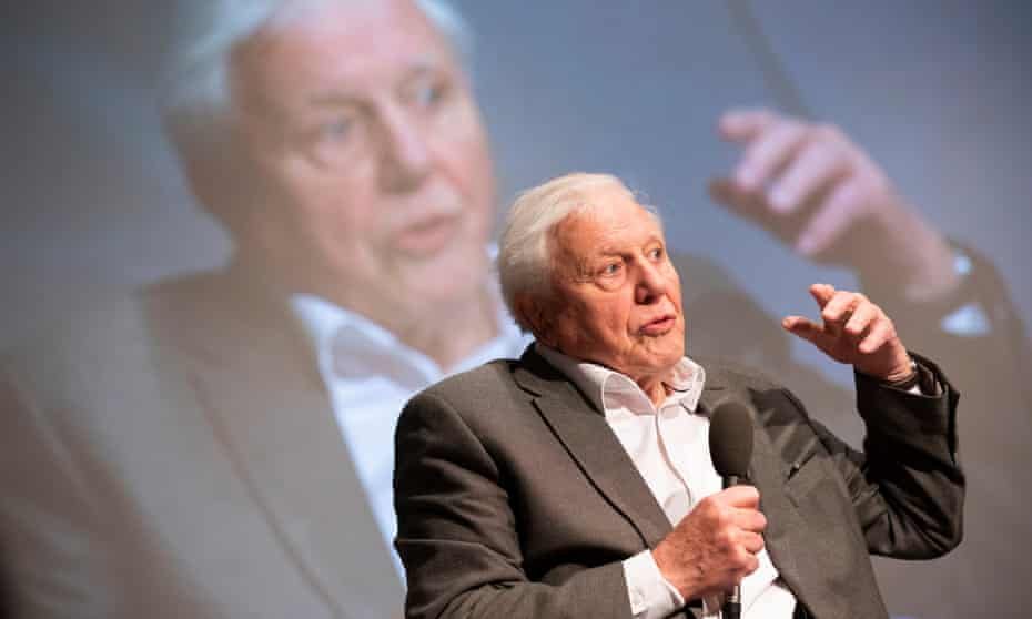 Sir David Attenborough speaks at the first UK-wide citizens' assembly on climate change in January 2020, Birmingham.