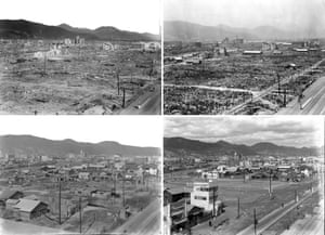 Hiroshima in October 1945, April 1946, December 1948 and February 1953.