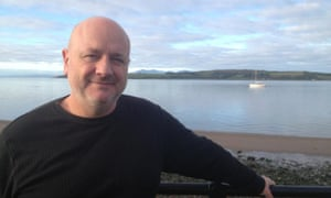 Chris Young in Largs, Scotland, as part of his Walk a Mile in My Shoes journey.