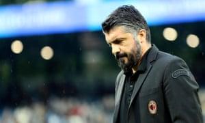 Gennaro Gattuso took over as Milan coach in November 2017.