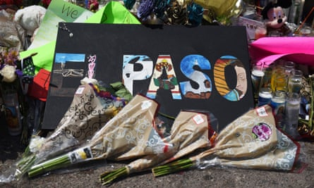 People pay their respects five days after a mass shooting in El Paso