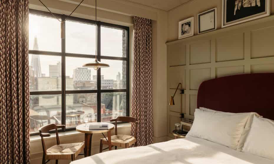 'Views across London': Southwark/Hoxton Hotel.