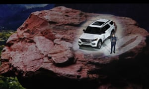Ford unveils its redesigned 2020 Explorer during its unveiling on Wednesday at Detroit's North American International Auto Show.