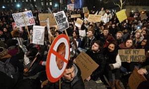 Anti-Trump protests in London in January