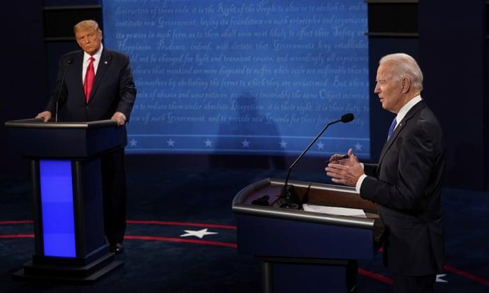Biden slams Trump on coronavirus response, family separations and racism in final debate – live